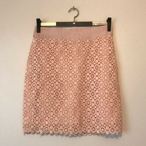 Forever 21 Blush Pink lace skirt floral print
